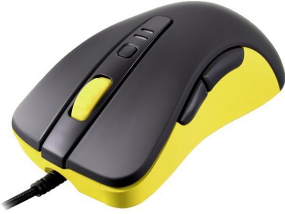 Мышь проводная COUGAR 300M чёрный жёлтый USB мышь проводная cougar 230m жёлтый белый usb cgr wosy 230