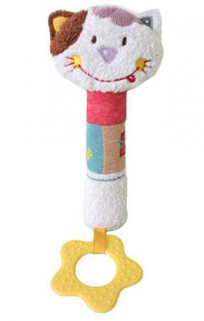 Пищалка-прорезыватель Жирафики Кошечка Мими 939466 с рождения пищалка разноцветный жирафики развивающая игрушка пищалка динозаврик 93920