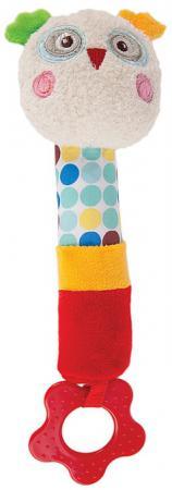 где купить Пищалка-прорезыватель Жирафики Совёнок Бонни с 3 месяцев пищалка разноцветный 939372 дешево