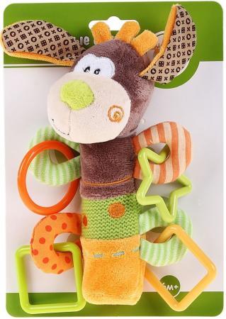 Погремушка-пищалка Жирафики Пёсик Том 93558 жирафики развивающая игрушка пищалка динозаврик 93920