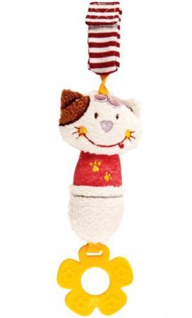 Развивающая игрушка Жирафики Подвеска с колокольчиком и прорезывателем Кошечка Мими 939348 жирафики развивающая игрушка подвеска крабик звук буль буль