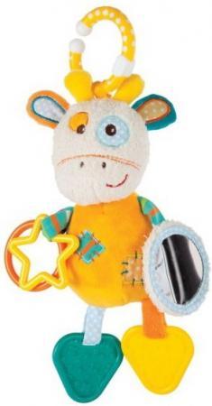 Развивающая игрушка Жирафики Подвеска с пищалкой, зеркальцем, прорезывателями Жирафик Дэнни 939362 жирафики игрушка подвеска львенок 93929
