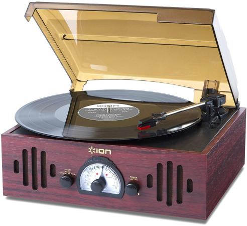 Виниловый проигрыватель ION Audio Trio LP черный виниловый проигрыватель ion max lp черный