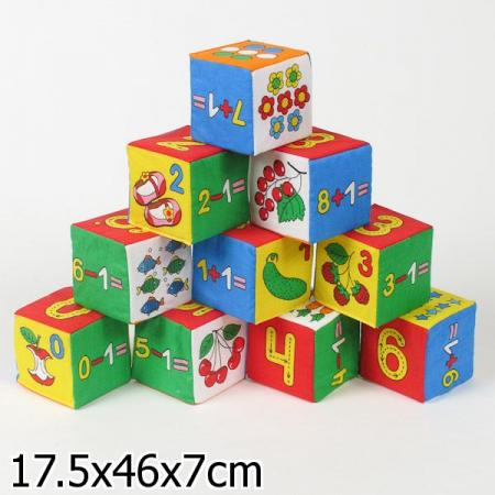Кубики МЯКИШИ Умная математика 177 мякиши мякиши кубики 4 цвета