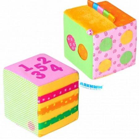 Развивающая игрушка МЯКИШИ Математический кубик 333 развивающая игрушка мякиши мой зайчик цвет серый белый розовый