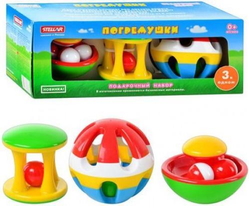 Набор погремушек СТЕЛЛАР 01517 музыкальные игрушки стеллар дудочка