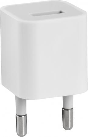 Сетевое зарядное устройство Defender EPA-01 1A 83534 1A USB белый