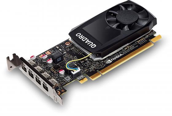 Видеокарта PNY Quadro P1000 VCQP1000BLK-1 PCI-E 4096Mb GDDR5 128 Bit OEM видеокарта pny quadro nvs 300 520mhz pci e 512mb 1580mhz 64 bit