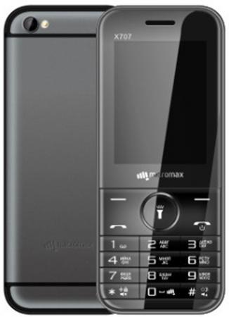 Мобильный телефон Micromax X707 серый 2.4 32 Мб мобильный телефон micromax bolt q346 lite медно золотистый