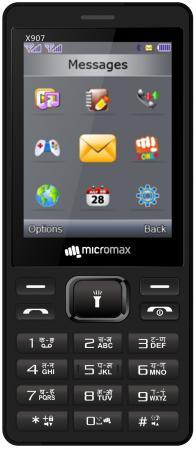 Мобильный телефон Micromax X907 черный 2.8 мобильный телефон micromax bolt q379 черный