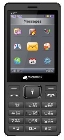 Мобильный телефон Micromax X907 серый 2.8 мобильный телефон micromax bolt q346 lite медно золотистый