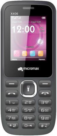 Мобильный телефон Micromax X406 серый 1.77 32 Мб мобильный телефон micromax bolt q301 серый
