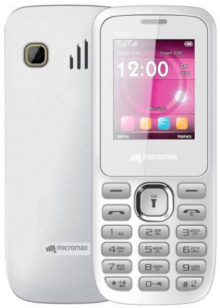 Мобильный телефон Micromax X406 белый 1.8 32 Мб