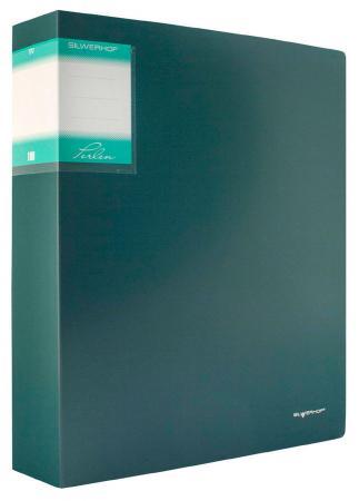 Папка с 100 файлами Silwerhof Perlen А4 1.2мм карман зеленый металлик 291900-75 папка с метал пруж скоросш silwerhof perlen 281901 75 a4 0 7мм зеленый металлик
