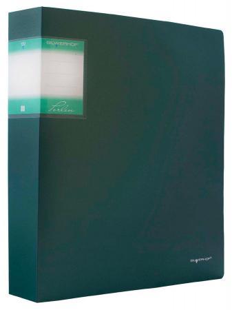 Папка с 80 файлами Silwerhof Perlen А4 1.1мм карман зеленый металлик 291980-75 папка с метал зажим silwerhof perlen 281903 75 a4 0 7мм внут и торц карм зеленый металлик