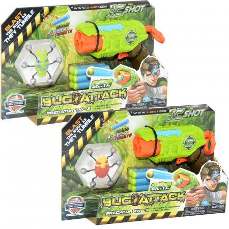 Бластер Zuru Атака Пауков игрушечное оружие zuru x shot ружье с мишенями атака пауков