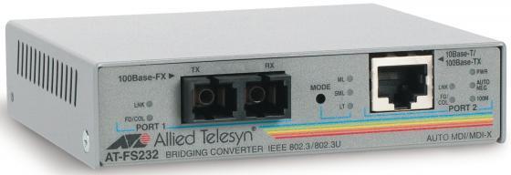 Медиаконвертер Allied Telesis AT-FS232/1-60 медиаконвертер allied telesyn at mc103xl 60 100basetx to 100basefx медиа конвертер