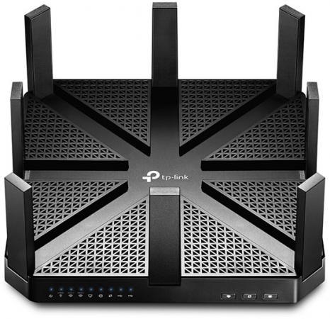 Маршрутизатор TP-LINK Archer C5400 802.11acbgn 2167Mbps 2.4 ГГц 5 ГГц 4xLAN USB RJ-45 черный маршрутизатор tp link tl wr842nd ru 802 11bgn 300mbps 2 4 ггц 4xlan usb rj 45 rj 45 usb белый