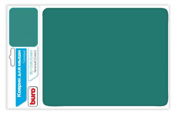 все цены на Коврик для мыши Buro BU-CLOTH/green ткань зеленый онлайн