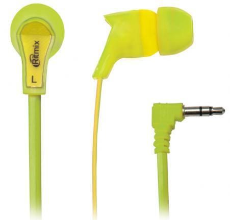 Наушники Ritmix RH-013 желтый зеленый наушники ritmix rh 013 желтый зеленый