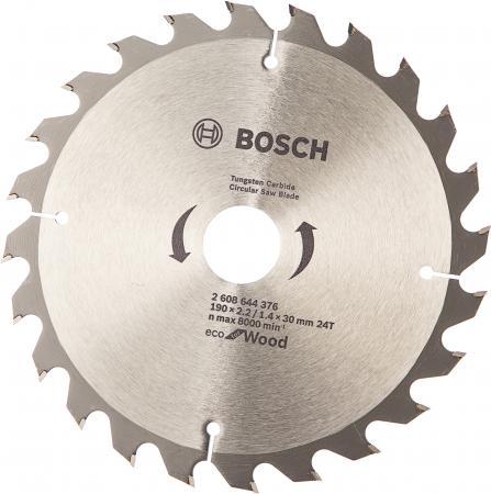Диск пильный Bosch ECO WOOD 190 ммx30 мм 24зуб 2608644376 диск пильный bosch eco wood 190 ммx20 мм 48зуб 2608644378