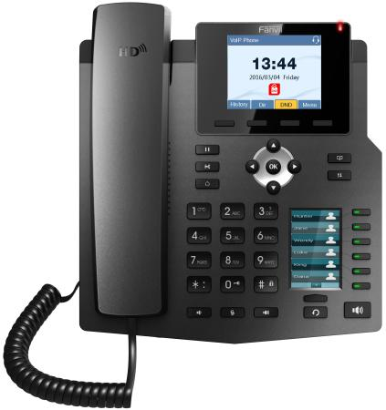 Телефон IP Fanvil X4 4 линии 2x10/100Mbps цветной LCD PoE цена и фото