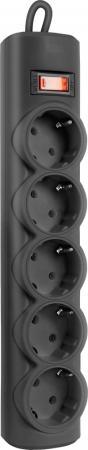 Сетевой фильтр Defender RFS 50 5 розеток 5 м черный 99516 цена 2017