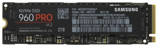 Твердотельный накопитель SSD M.2 2Tb Samsung 960 PRO Read 3500Mb/s Write 2100Mb/s PCI-E MZ-V6P2T0BW kingfast ssd 128gb sata iii 6gb s 2 5 inch solid state drive 7mm internal ssd 128 cache hard disk for laptop disktop