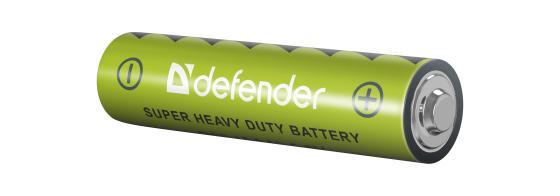 Фото - Батарейки Defender 56102 AAA 4 шт батарейки defender r03 4f 4 шт aaa 56101