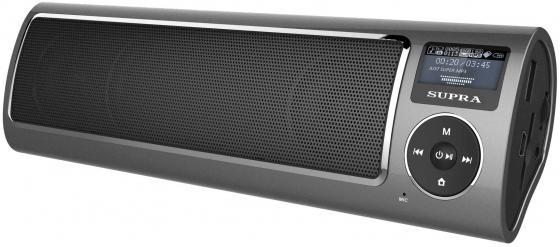 Портативная акустикаSupra PAS-6280 серый портативная акустика supra pas 6255 blue синий