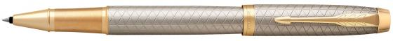 Ручка-роллер Parker IM Premium T323 Grey GT черный F 1931686 ручка роллер parker im premium t323 1931642 green ct f черные чернила