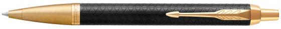 Шариковая ручка автоматическая Parker IM Premium K323 Black GT синий M 1931667 parker ручка шариковая im black gt цвет черный золотистый