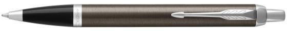 Шариковая ручка автоматическая Parker IM Core K321 Dark Espresso CT синий M 1931671 шариковая ручка автоматическая parker im core k321 light blue grey ct синий m 1931669