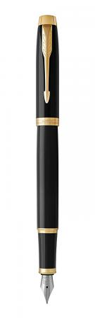 Перьевая ручка Parker IM Core F321 Black GT синий 0.8 мм перо F 1931645 parker im core f321 light purple ct f сиреневый