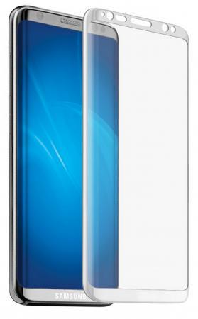 Защитное стекло DF sColor-19 для Samsung Galaxy S8 Plus 3D с рамкой белый аксессуар защитное стекло samsung galaxy s8 plus onext 3d gold 41266