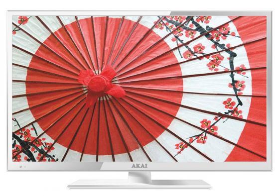 Телевизор LED 24 Akai LEA-24V61W белый 1920x1080 50 Гц HDMI USB телевизор 24 akai lea 24v61w full hd 1920x1080 usb hdmi vga белый