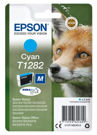 Картридж Epson C13T12824012 для Epson S22/SX125 голубой