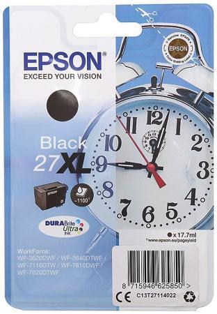 Картридж Epson C13T27114022 для Epson WF7110/7610/7620 черный 1100стр procolor continuous ink supply system ciss europe area 27 t2701 for epson wf 7110 wf7110 wf 7110 7110dtw wf 7110dtw wf7110dtw