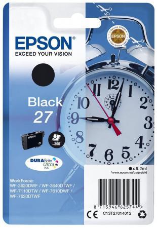 Картридж Epson C13T27014022 для Epson WF7110/7610/7620 черный 350стр procolor continuous ink supply system ciss europe area 27 t2701 for epson wf 7110 wf7110 wf 7110 7110dtw wf 7110dtw wf7110dtw