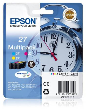 Картридж Epson C13T27154022 для Epson WF7110/7610/7620 цветной 1100стр procolor continuous ink supply system ciss europe area 27 t2701 for epson wf 7110 wf7110 wf 7110 7110dtw wf 7110dtw wf7110dtw