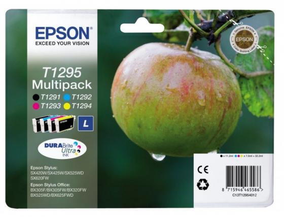 Картридж Epson C13T12954012 для Epson St SX420W/SX425W/SX525WD/SX620FW/B42WD/BX305F/BX305FW/BX320FW/BX525WD/BX625FWD/BX925FWD цветной картридж epson t009402 для epson st photo 900 1270 1290 color 2 pack