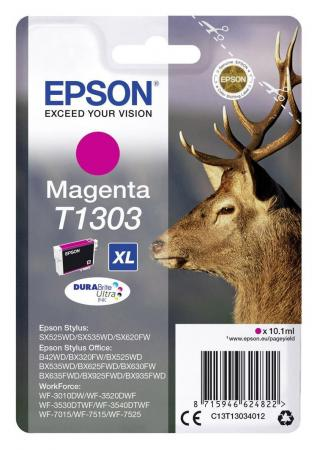 Картридж Epson C13T13034012 для Epson SX525WD/SX535WD/B42WD/BX320FW/BX625FWD/BX635FWD/WF-7015/7515/7525 пурпурный original cc03main mainboard main board for epson l455 l550 l551 l555 l558 wf 2520 wf 2530 printer formatter