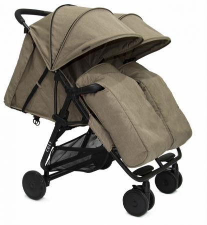 Прогулочная коляска для двоих детей Cozy Smart (dark sand melange) коляска трость fd design primo sand dark brown 41001