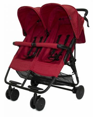 Прогулочная коляска для двоих детей Cozy Smart (red melange) burgundy cozy v neck long sleeves longline top