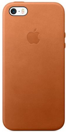Накладка Apple Leather Case для iPhone 5 iPhone 5S iPhone SE коричневый MNYW2ZM/A apple leather case black для iphone se mmhh2zm a