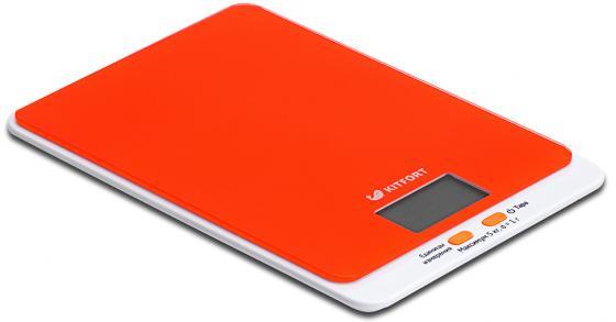 Весы кухонные KITFORT KT-803-5 оранжевый кухонные весы kitfort kt 803 5
