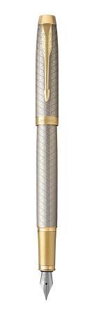 Перьевая ручка Parker IM Premium F323 Grey GT синий 0.8 мм перо F 1931684 европа перьевая ручка parker im s0856240