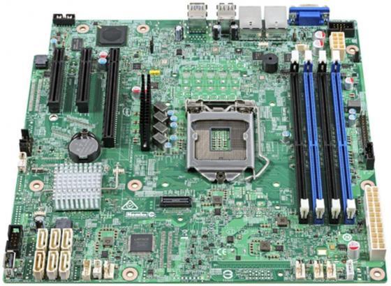Материнская плата Intel DBS1200SPSR Socket 1151 C232 4xDDR4 — 1xPCI-E 4x 2xPCI-E 8x 6xSATAIII mATX 951870 материнская плата asus h81m r c si h81 socket 1150 2xddr3 2xsata3 1xpci e16x 2xusb3 0 d sub dvi vga glan matx