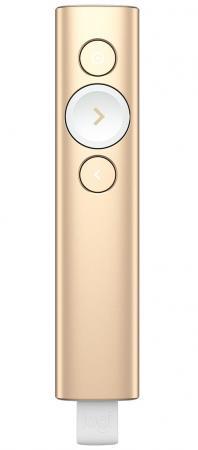 лучшая цена Универсальный пульт Logitech Spotlight Presentation Remote золотистый 910-004862