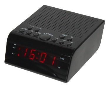 Часы с радиоприёмником Supra SA-44FM чёрный supra sa 36fm black red
